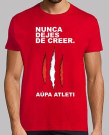 Atleti - Nunca Dejes De Creer (Hombre) Fondo Rojo