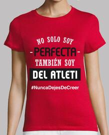 Atleti - Nunca Dejes De Creer (Perfecta) (Mujer) Fondo Rojo