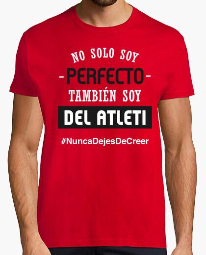 Camiseta Atleti - Nunca Dejes De Creer (Perfecto) (Hombre) Fondo Rojo