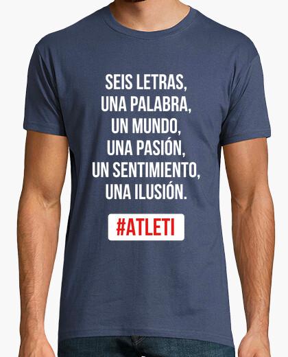 Camiseta Atleti - Una Ilusión (Hombre) Fondo Oscuro