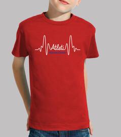 Atleti en el Corazón Pulso (Niño) Fondo Rojo