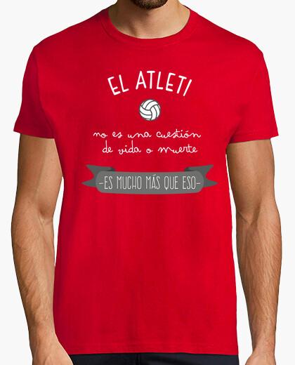 Camiseta Atleti Vida o Muerte II (Hombre) Fondo Rojo