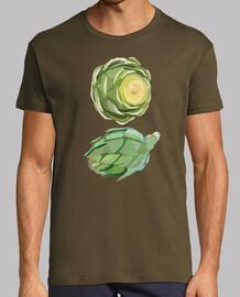 Atractiva Camiseta para hombres Dúo de alcachofas
