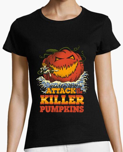 af8e09c91 Attack of the Killer Pumpkin Shirt Womens T-shirt - 1526545 |  Tostadora.co.uk