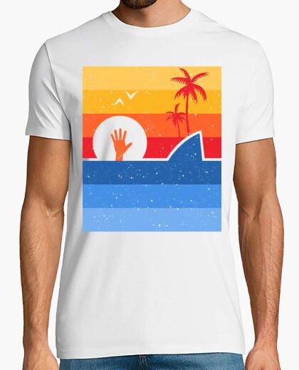 Tee-shirt attaque de requin rétro
