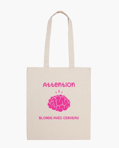 Bolsa Attention Blonde avec Cerveau