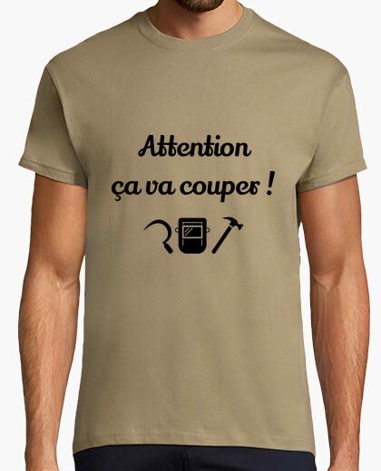 Tee-shirt Attention ça va couper cité de la peur