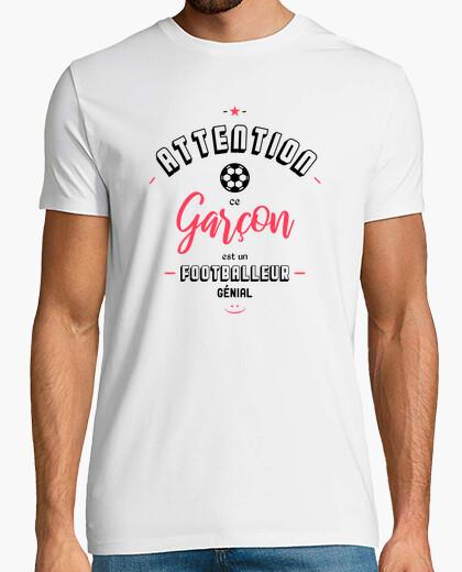 Tee-shirt Attention footballeur génial