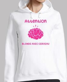 attenzione blonde cerveau avec