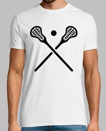 attraversato palla bastoni lacrosse