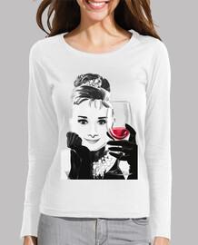 audrey aime le vin rouge -  femme  m / l