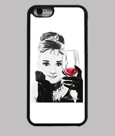 audrey aime le vin rouge iphone 6
