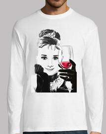 audrey loves red wine - boy m / l