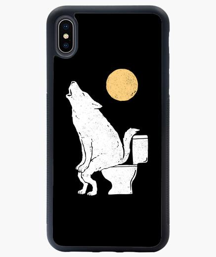 Funda iPhone XS Max aullando por la noche