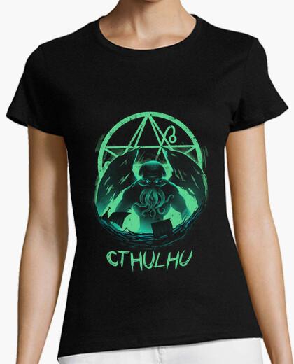 Camiseta aumento de las mujeres de la camisa cthulhu