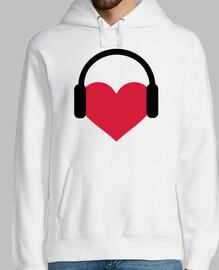 auriculares del corazón