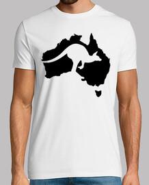 australia mapa de canguro