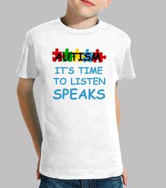 autismo su tiempo para escuchar habla