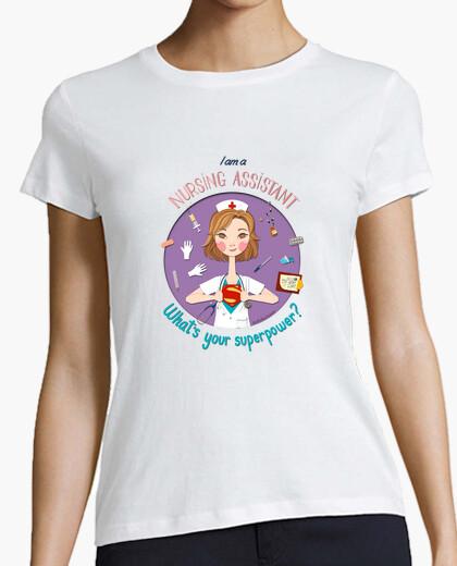 Camiseta auxiliar de enfermería