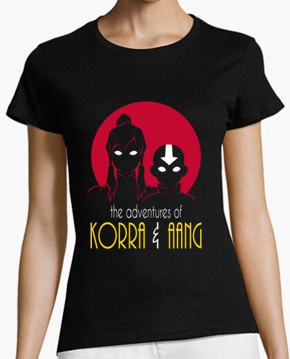 Camiseta aventuras de korra y chica aang camisa