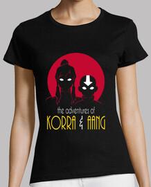 aventuras de korra y chica aang camisa