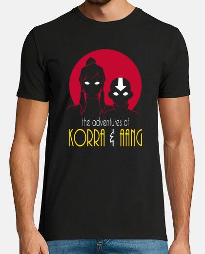 aventuras de korra y hombres aang camisa