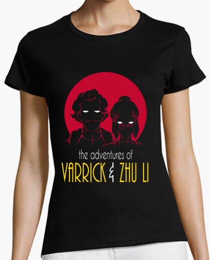 Camiseta aventuras de varrick y zhu camisa chica li