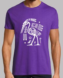 avestruz blanco petroglifo tribal