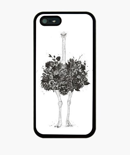 Funda iPhone avestruz floral