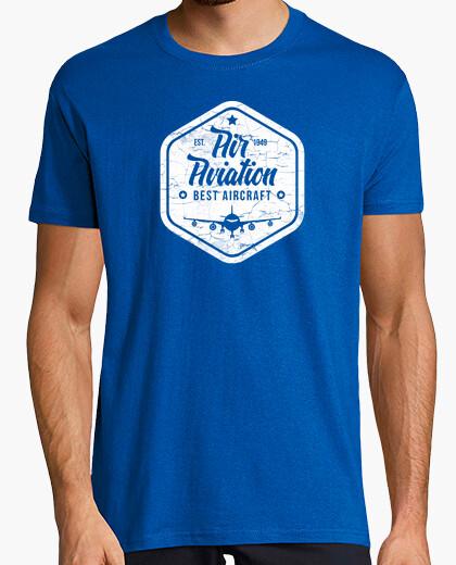 Camiseta Aviación Mejor Aeronave Logo Vintage