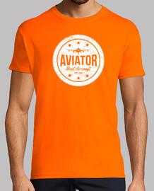 Aviador Mejor Aeronave Logo Vintage