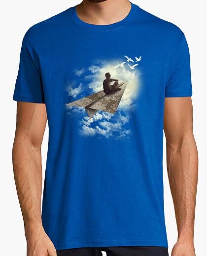 Camiseta avión de papel