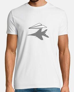 avión de papel de sombra