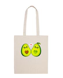 avocados love kawaii design