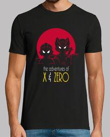 avventure di x & a zero camicia da uomo