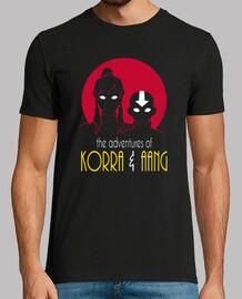 avventure of aang korra e men t-shirt