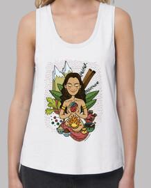 ayurveda- mädchen t-shirt