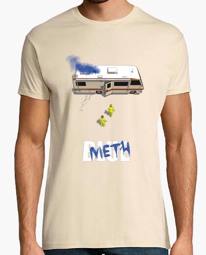 Camiseta azul camisa de hombre de metanfetamina