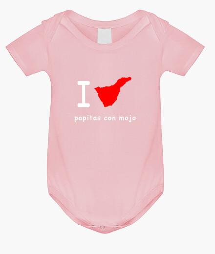 Ropa infantil Baby - I love papitas con mojo -