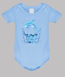 Baby bodysuit, sky blue
