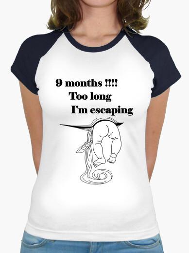 T-shirt baby di fuga