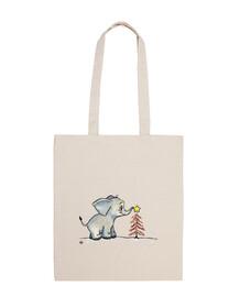 Baby elephant christmas