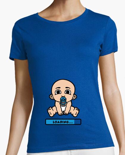 01e186b9 baby loading pregnant woman T-shirt - 1461017 | Tostadora.com