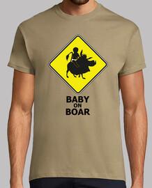 baby on boar