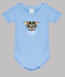 Baby Yoda, Body bebé, celeste