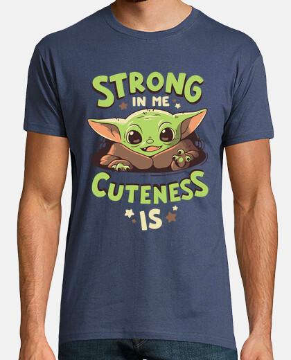 Baby Yoda Mandalorian Fuerza Camiseta