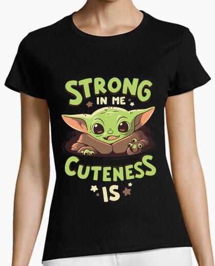 Baby yoda mandalorian strength t shirt t-shirt