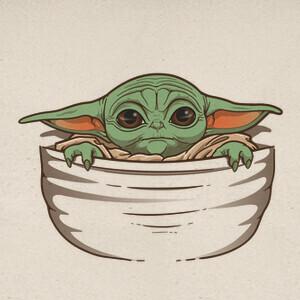 Camisetas Baby Yoda pocket