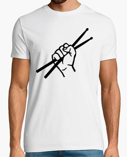 T-shirt bacchette drummer