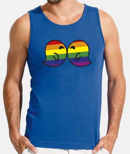 bacio gaysper l'uomo, senza maniche, blu royal